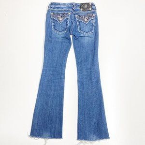 Miss Me Bootcut Jeans Pocket Flap 25 Bling